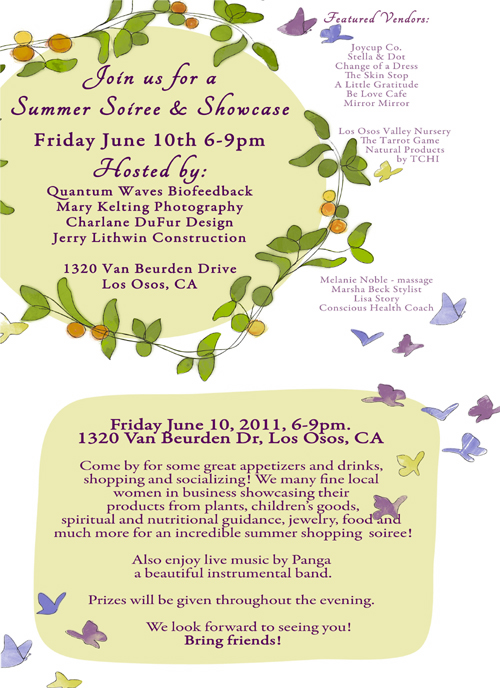 Summer Soiree flyer